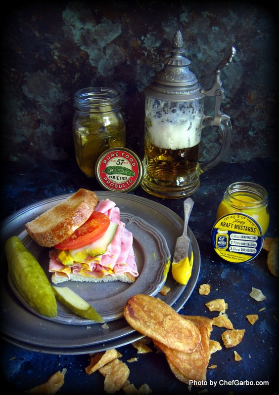 Garbo's Home Made Pickles with Black Forest Ham Sandwich – Organic – Gluten Free